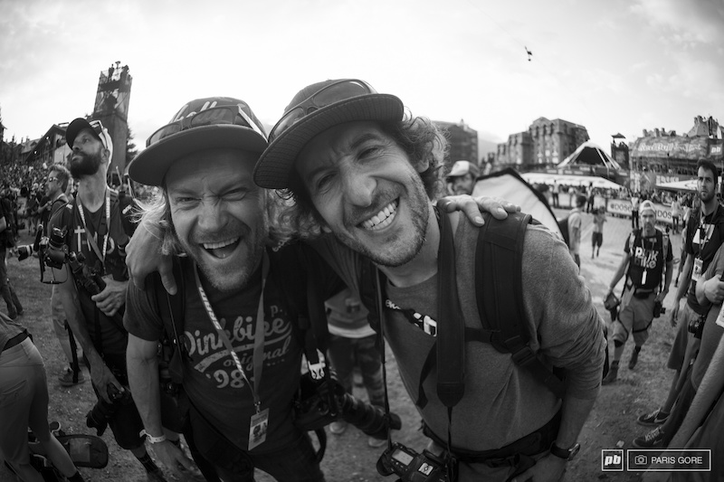 Two amazing photographers making Pinkbike a better place. Margus Riga and Sterling Lorence.