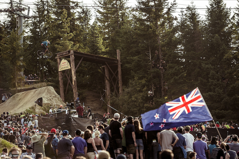 Kiwi did a solid run and once again put the New Zealand on the scoreboard This time he did it so well that NZ will have its own Crankworx in 2015