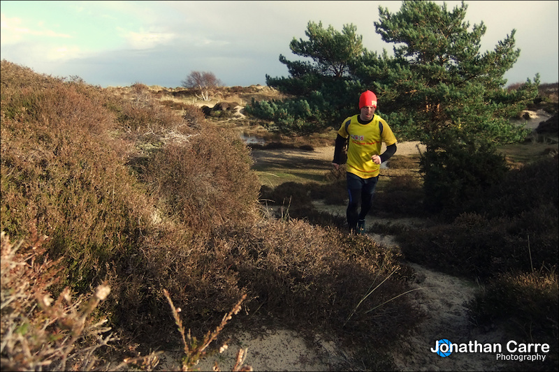 Self portraits of trail running at Studland on the Jurassic Coast.