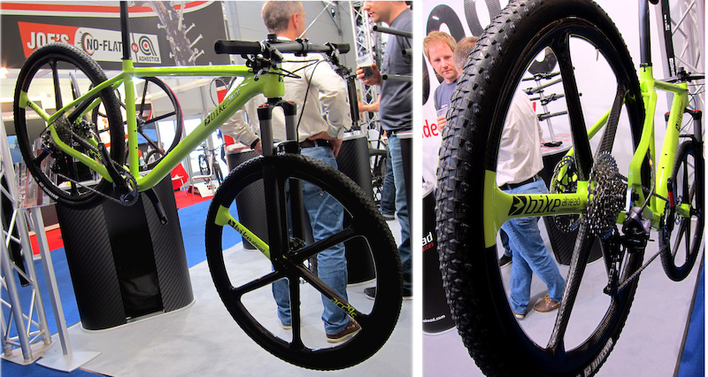 Bike Ahead Carbon spoke wheels
