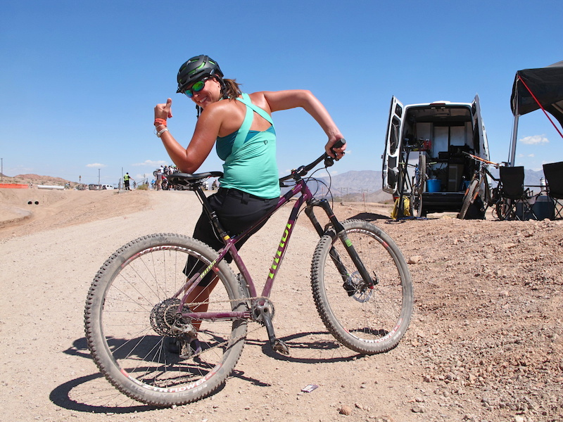 Meet Shimano Pearl Izumi employee Lani Pentico from Denver Colorado. She wants all the ladies to know that she s rocking the all new Pearl Izumi MTB Journey Tank and to the boys she d like to challenge you to a shot gun contest.