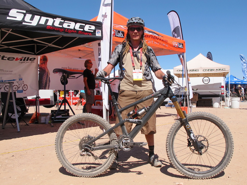 Chewy Aitken is from Sedona Bike and Bean in Sedona Arizona and was out testing a Liteville 601.
