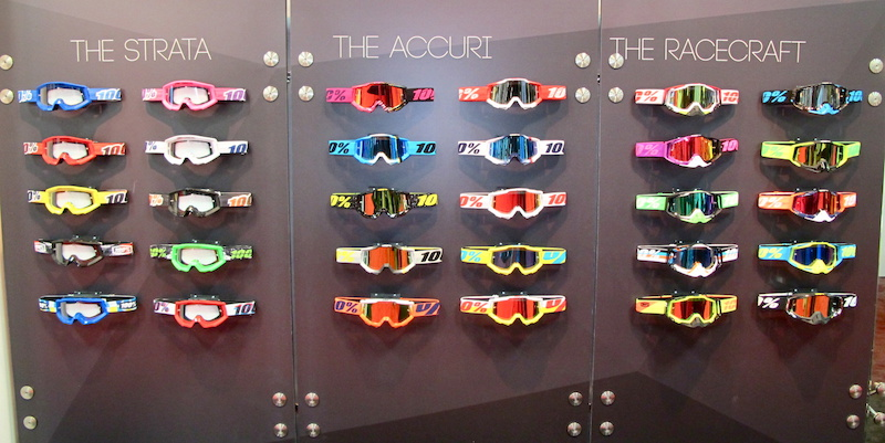 100 has a goggle for any kit that you rock. This is the rainbow that resides within the convention centre walls. Which is your favourite colorway