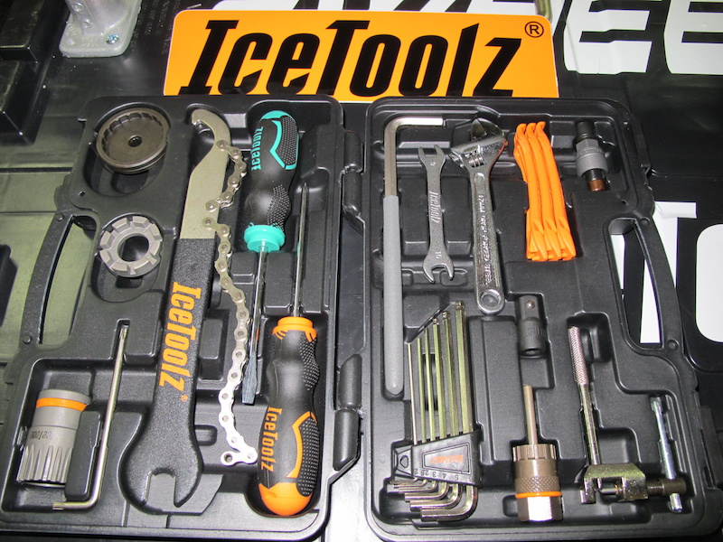 Are you that rider that likes to tinker on your bike or do you travel enough you really should have a set of tools in the car waiting for post ride repairs Well then maybe it s time that you looked at a tool kit like the Essence kit from IceToolz. At 112 USD it s got most of your home mechanic bases covered and will likely earn you a few free beers from your buddies in the parking lot as you know they don t carry anything to repair their bikes.