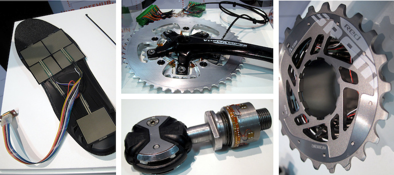 Saris prototype power meter technology. Interbike 2014