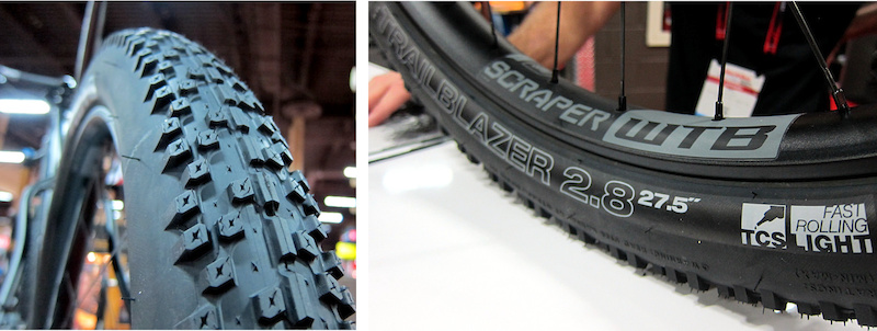WTB 27.5-inch Scraper rim and Trail Blazer 2.8-inch tire Interbike 2014
