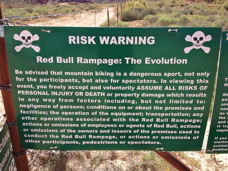 Signage at Rampage