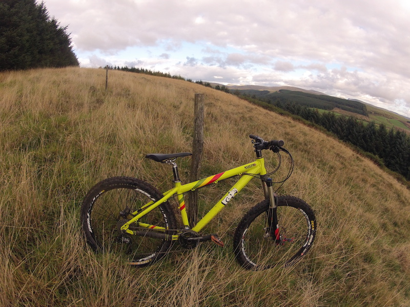 Hardcore Hardtail Session up in the awesome local fells