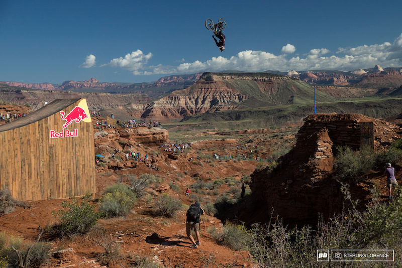 Jeff Herbertson's canyon backflip at RedBull Rampage 2014.