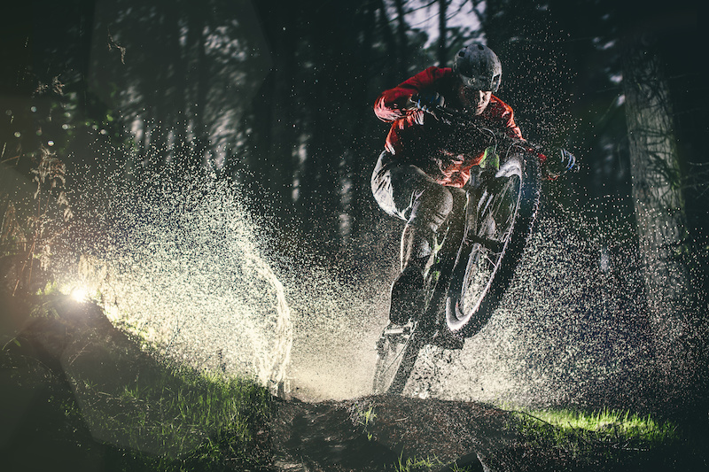 Splashing through puddles makes for a pretty standard ride in the damp British conditions. Richard Cunynghame not letting the weather get to him - Laurence CE - www.laurence-ce.com