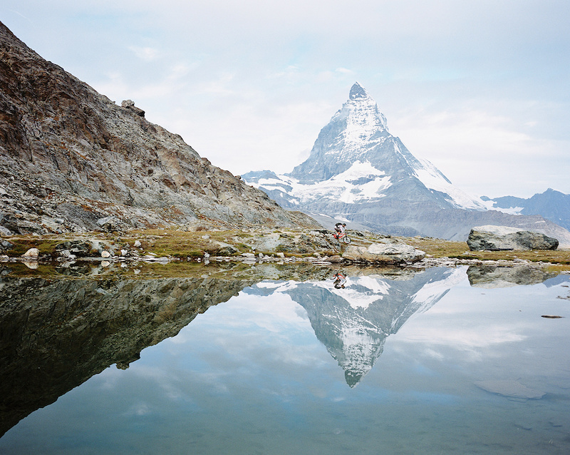 Early morning ride down from Gornergrat. Great trails and great light. Shot with Mamiya 7ii on Kodak Portra 400