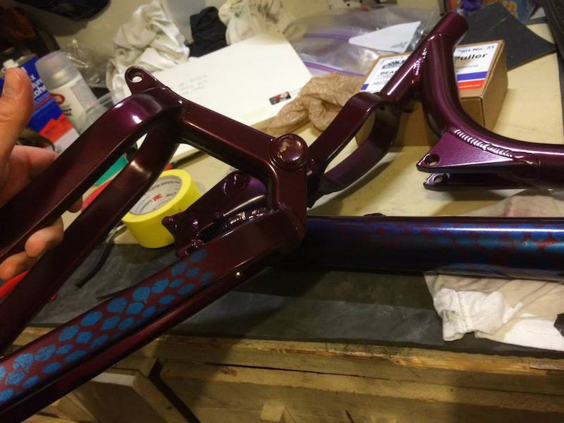 Sanded down, primed and painted a Konig Frame as a project bike.