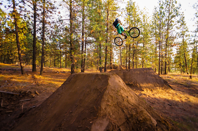 Caught some beauty evening light at the new jumps at Beacon Hill. Photo Credit Kyle Miller