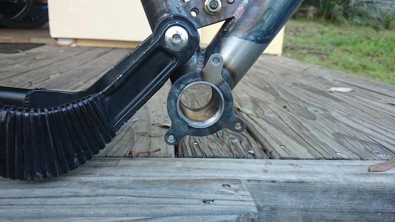 Custom Coiler frame. New front triangle steel 4130 CrMo . TT 23mm longer BB 15mm lower. ISCG mount fitted.