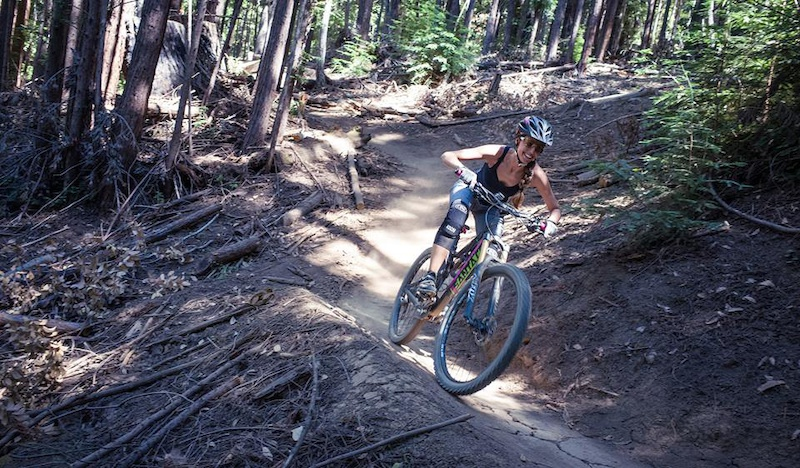 Inga railing the Santa Cruz Flow Trail