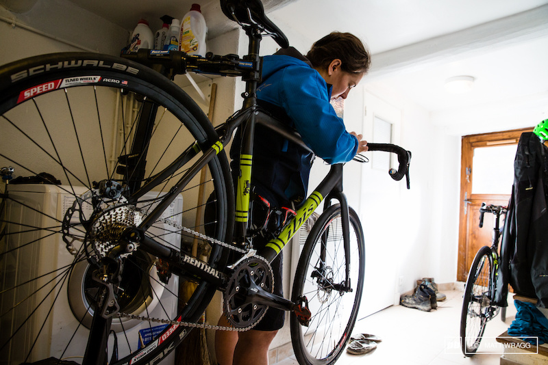 Getting the road bikes ready for the winter...