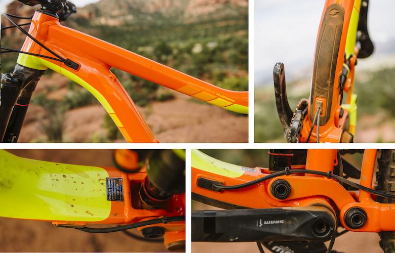 Uberbike Grip Builder Skinny Lock on Mountain bike Handlebar YELLOW grips