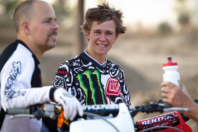 Troy Brosnan for TLD at the moto track. PHOTO TLD