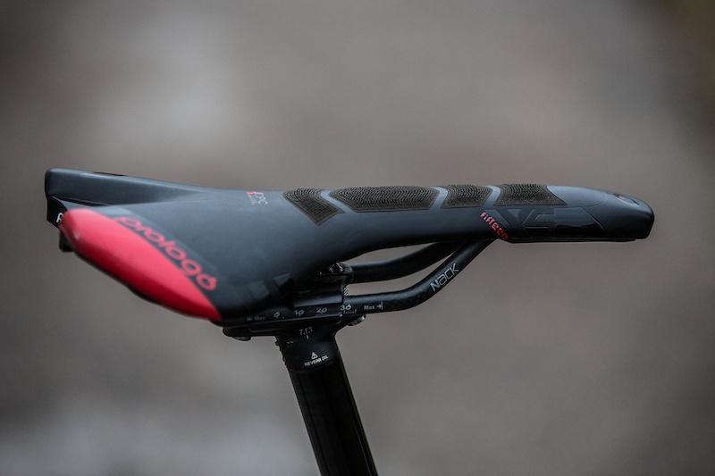Prologo Nago Evo X15 CPC MTB Saddle with Nack Carbon Rails White