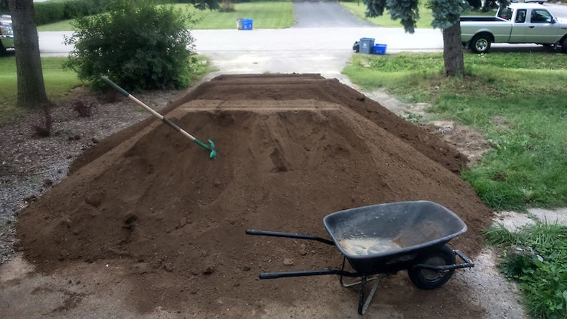 15 yards of Dirt... and Still need about 15 more