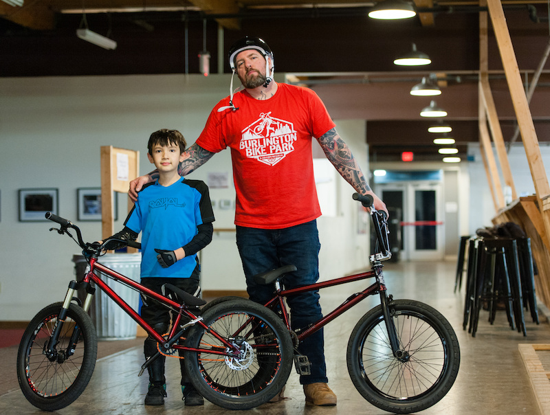 Max first Hellion team rider with the 20 dj frame and Joe with his 20 bmx frame.