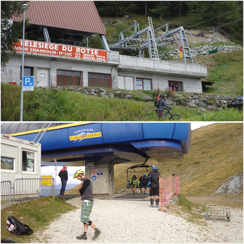 Starting the ride with a chairlift ride. 610m lift to the Alpine