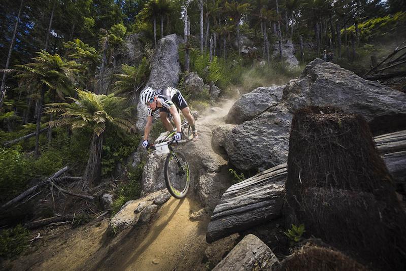 Cooper nails Boulderdash, 2015 New Zealand XCO Champs, Rotorua. Photo: Mead Norton. www.meadnorton.com