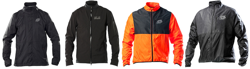 New line of TLD Jackets RUCKUS TRANSIT and ACE Windbreakers in Rocket red and black.