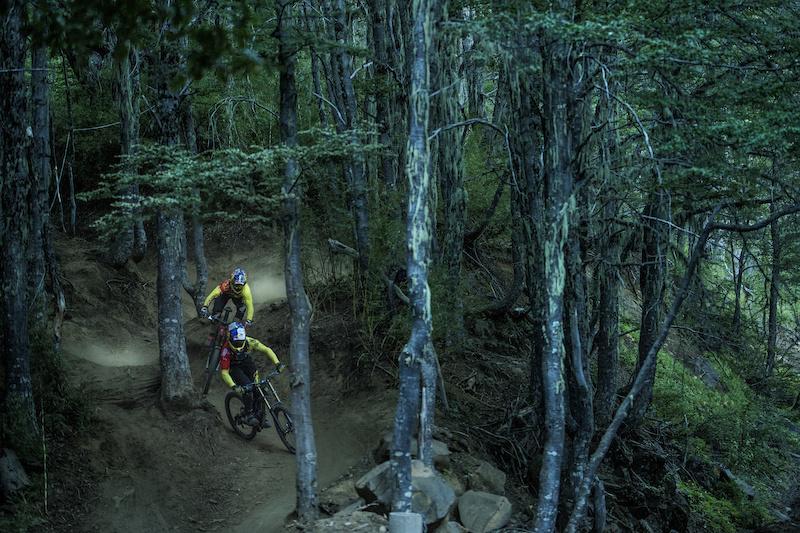 Filip Polc Tomas Slavik at Bike park Nevados de Chillan 2015