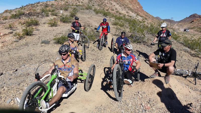 Start of the Hand Bike Category at the SD race at the DVO Reaper Madness