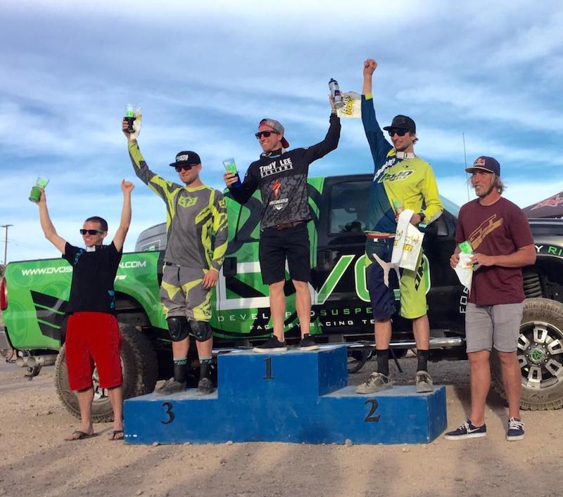 Men s Pro podium at the 2015 DVO Reaper Madness