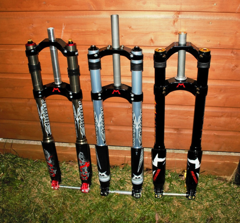 Left 2001 Shiver WC RC2X - Middle 2003 Shiver DC new - Right 2005 Shiver DC Avalanche