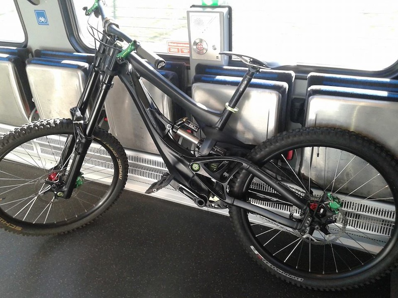 Dutch trains where you need to put your bike in some seat belts to secure the bike.