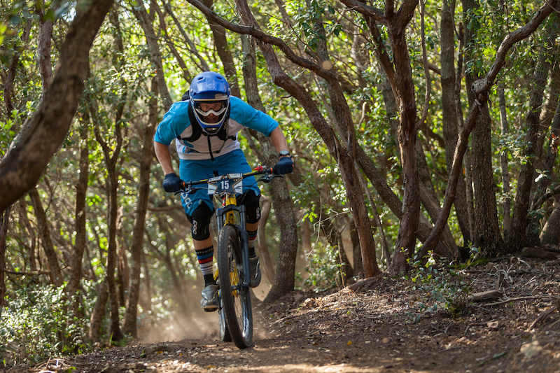 Robin WALLNER races down the prologue during the first stop of the European Enduro Series in Punta Ala Itali on April 25 2015. Free image for editorial usage only Photo by Antonio Lopez Ordonez