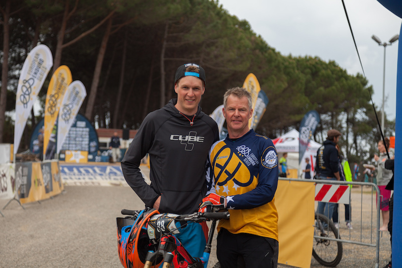 Scott and Derek Laughland during the competition of the European Enduro Series in Punta Ala on April 26 2015. Free image for editorial usage only Photo by Antonio Lopez Ordonez