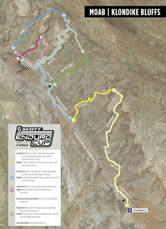 Race course at Klondike Bluffs for the opening race of the SCOTT Enduro Cup presented by Vittoria in Moab UT on May 9.