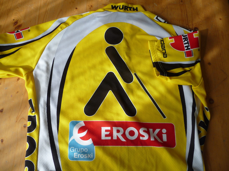 2000 ONCE EROSKI WURTH GIANT GIORDANA CYCLING JERSEY ... 728ee991d