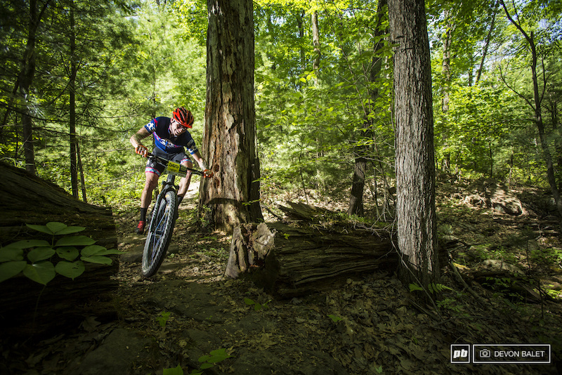 David Forkner navigates one of the East Coast Rocks sections racing in the Epic Team category for Team CTS.