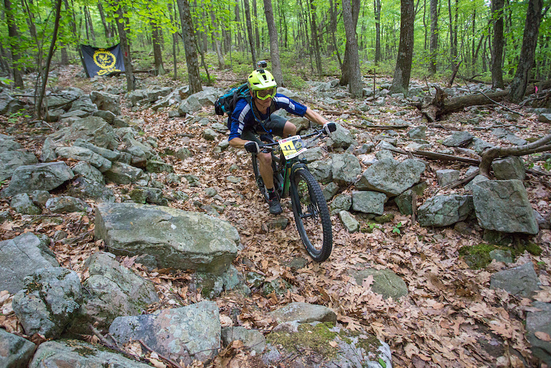 Men s Enduro overall leader Cody Phillips makes quick work of the Wild Cat rock garden on state four.