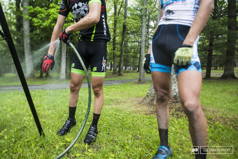 Sometimes it just best to hose yourself off after your bike.