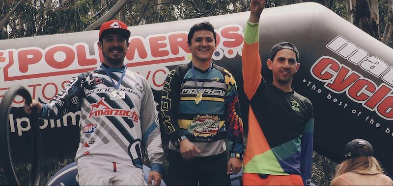Elite Men podium - Ecuadorian Downhill Series Round 4