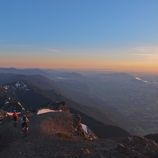 Sunset ride down Mt. Cheam
