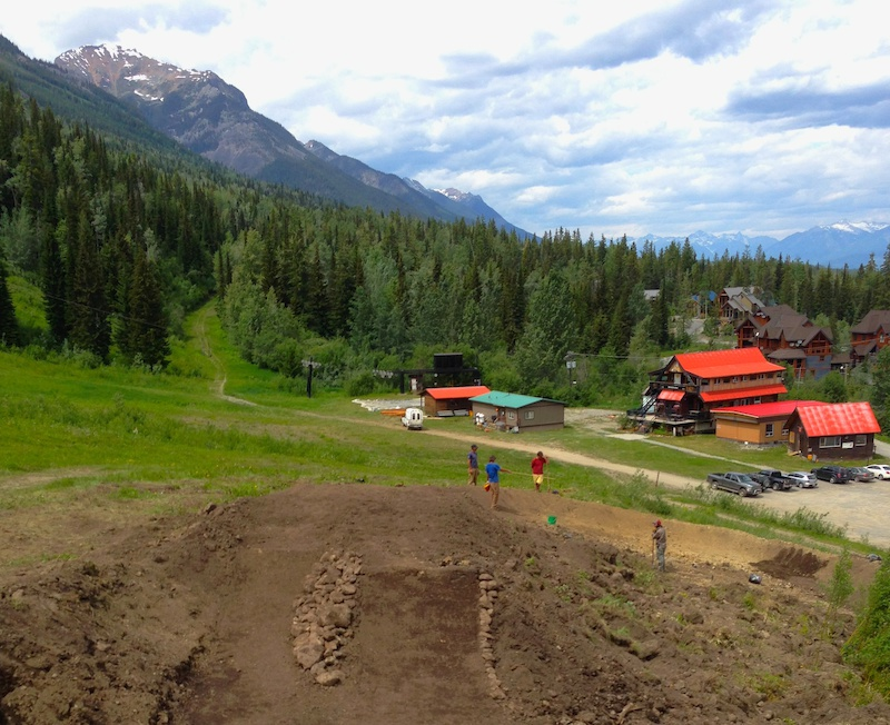 7 new jumps and a berm were added to the end of the DJ line. photo Emile Lavoie