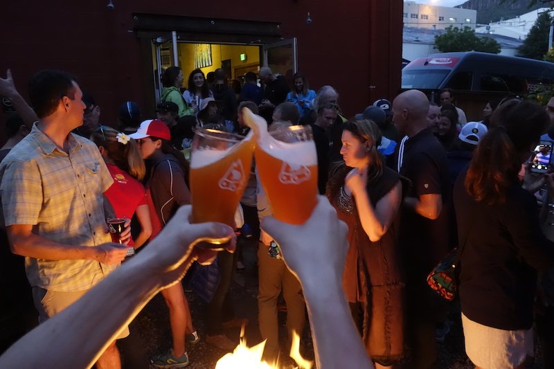 Cheers for Brews for Bikes Many thanks to Mountain Toad Brewing for hosting the event.