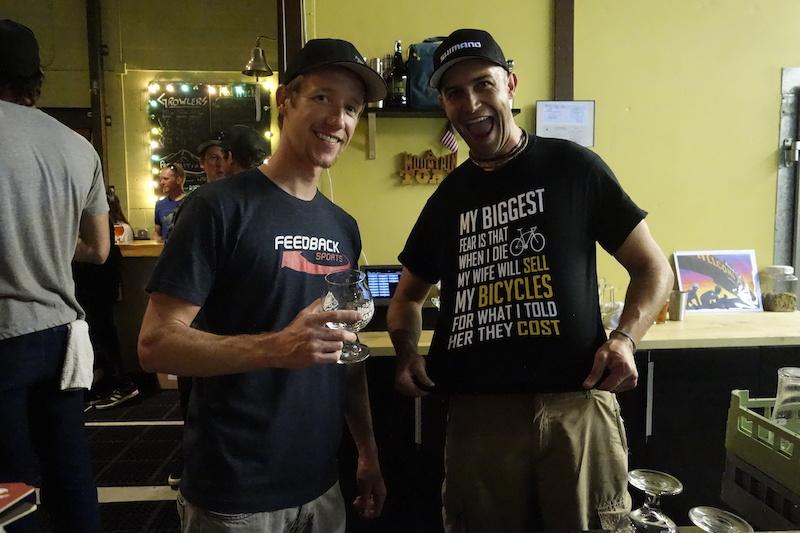 Guest bar tenders Tim Allen and Jesse Crock.