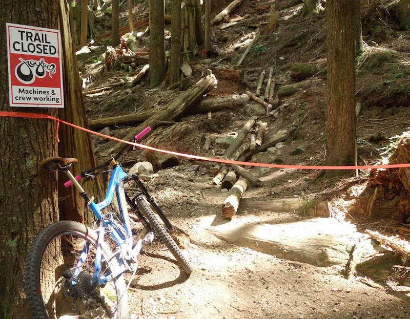 Work done by Joy Ride Bike Parks.   Old Exit of Upper Dales