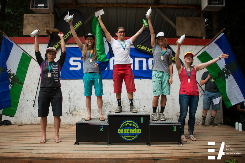 2015 Cascadia National Enduro Pro Women Podium.