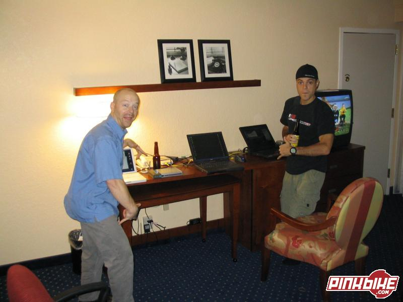 Setting up the Pinkbike remote office - high speed internet and wireless network in room