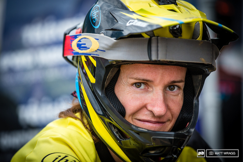 Anne-Caroline Chausson was more than a bit under the weather and had to retire with health issues after stage one and looks set to miss the next the couple of rounds.