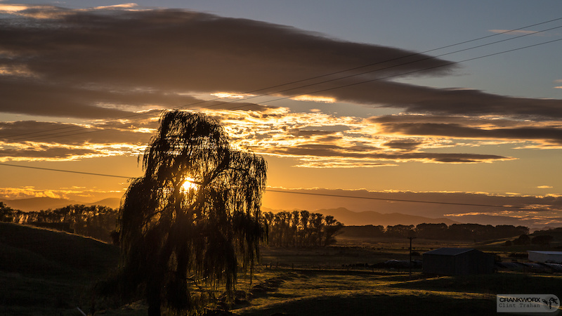 The first morning in New Zealand. The first sunrise.